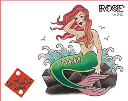 2016 Rose Mermaid Tattoo Label
