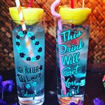 "High Roller Tiki Lounge ""Lei'd"" Zombie Glass"