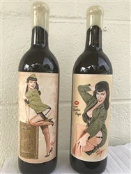 "Bettie Page ""Private Bettie"" Wine Set"